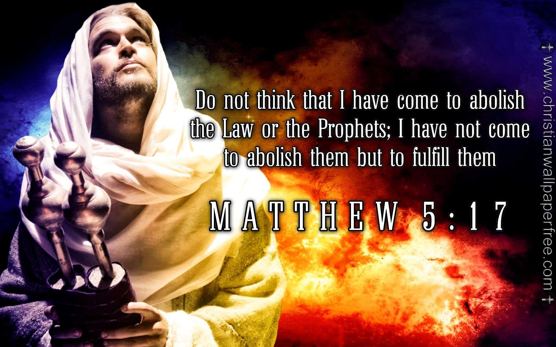 Matthew 5 Verse 17 ESV