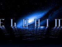 Elohim Blue Logo On Galaxy
