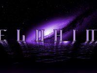 Elohim Violet Logo On Galaxy