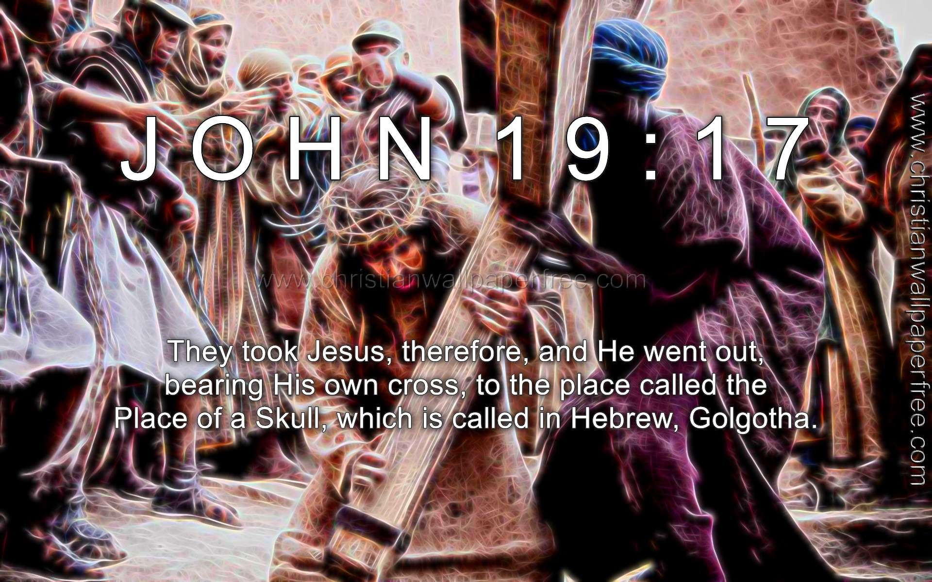 John 19 Verse 17