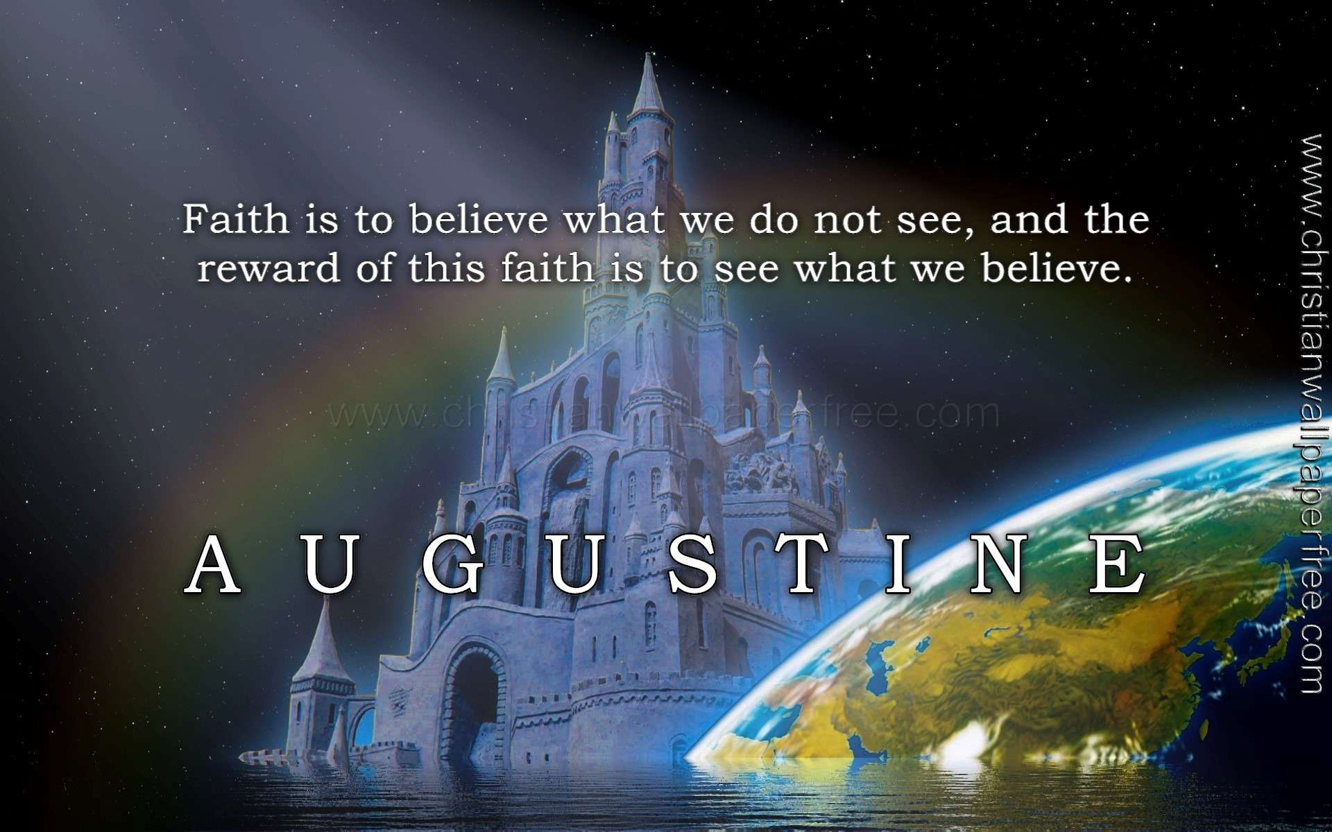 Reward of Faith Quote Augustine