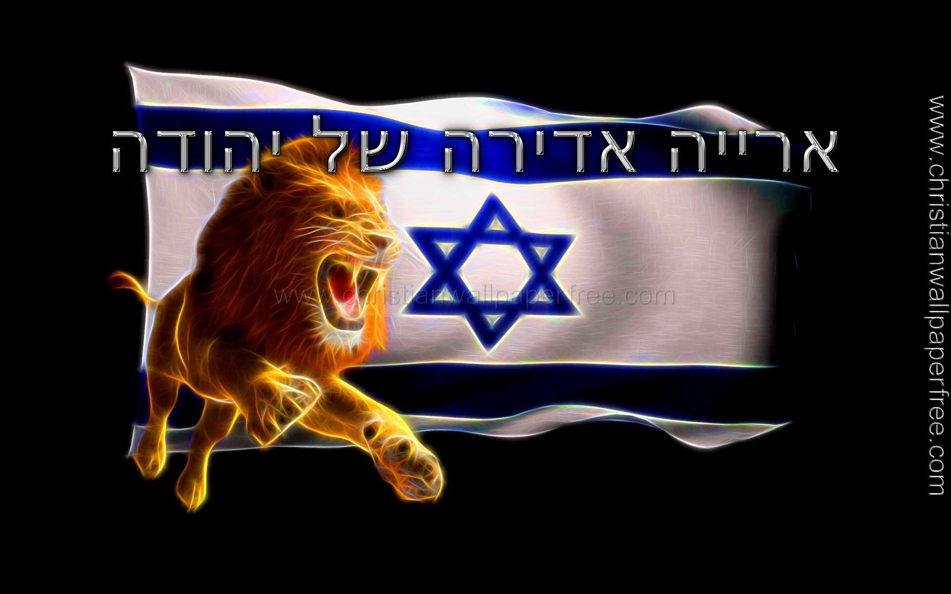 Mighty Lion of Judah in Hebrew Luminous