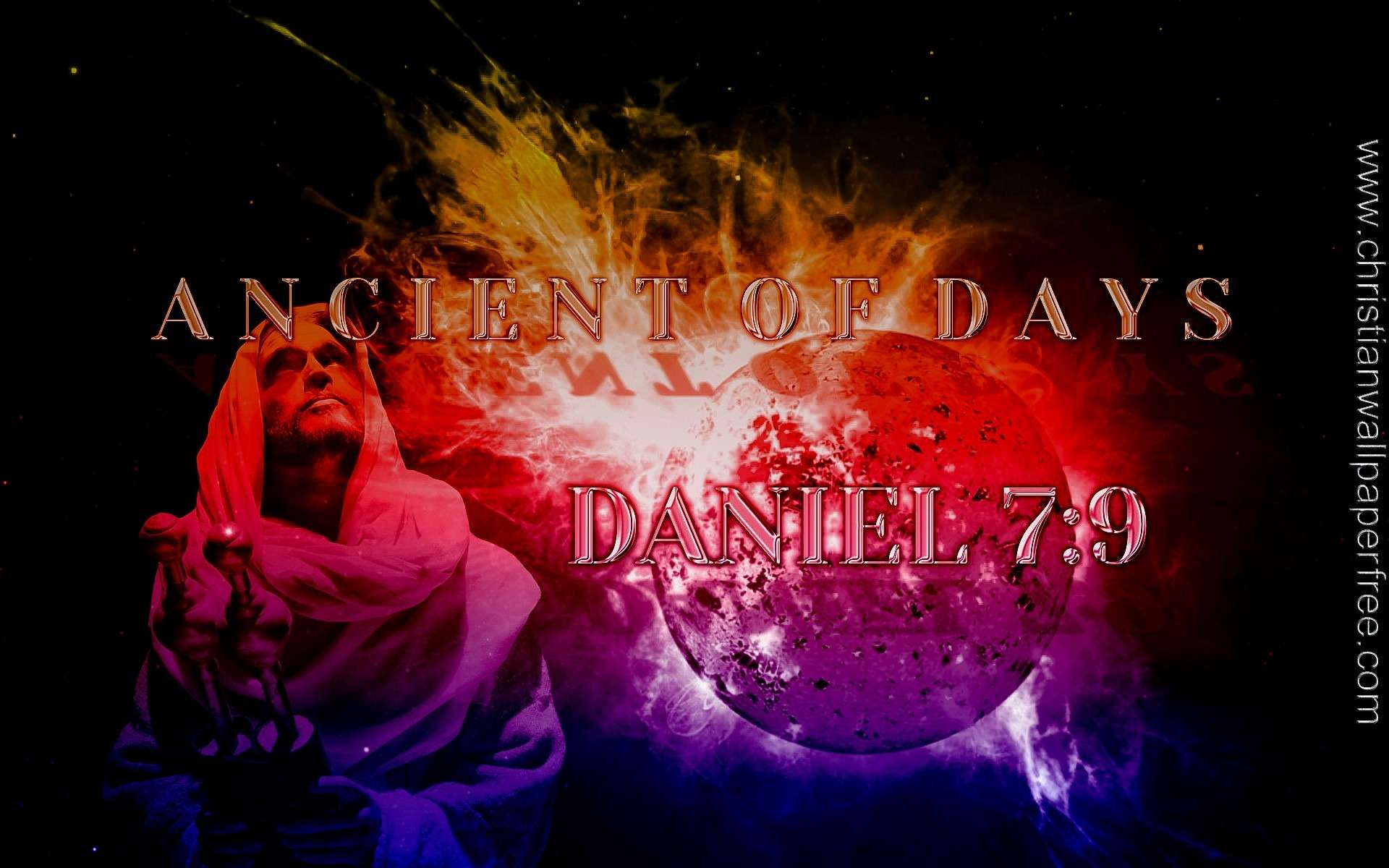 Ancient Of Days Daniel 7 Verse 9 Gradient Overlay