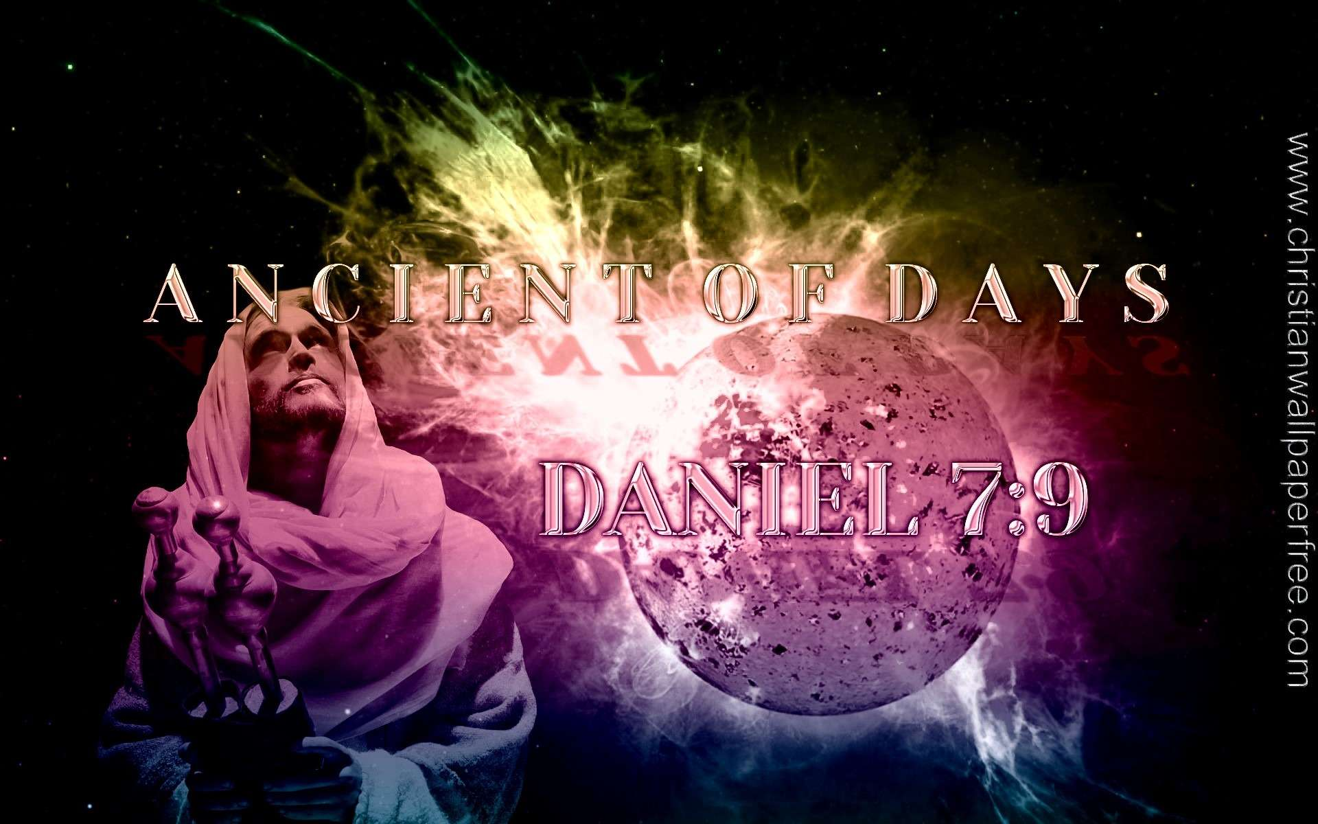 Ancient Of Days Daniel 7 Verse 9 Vivid Overlay