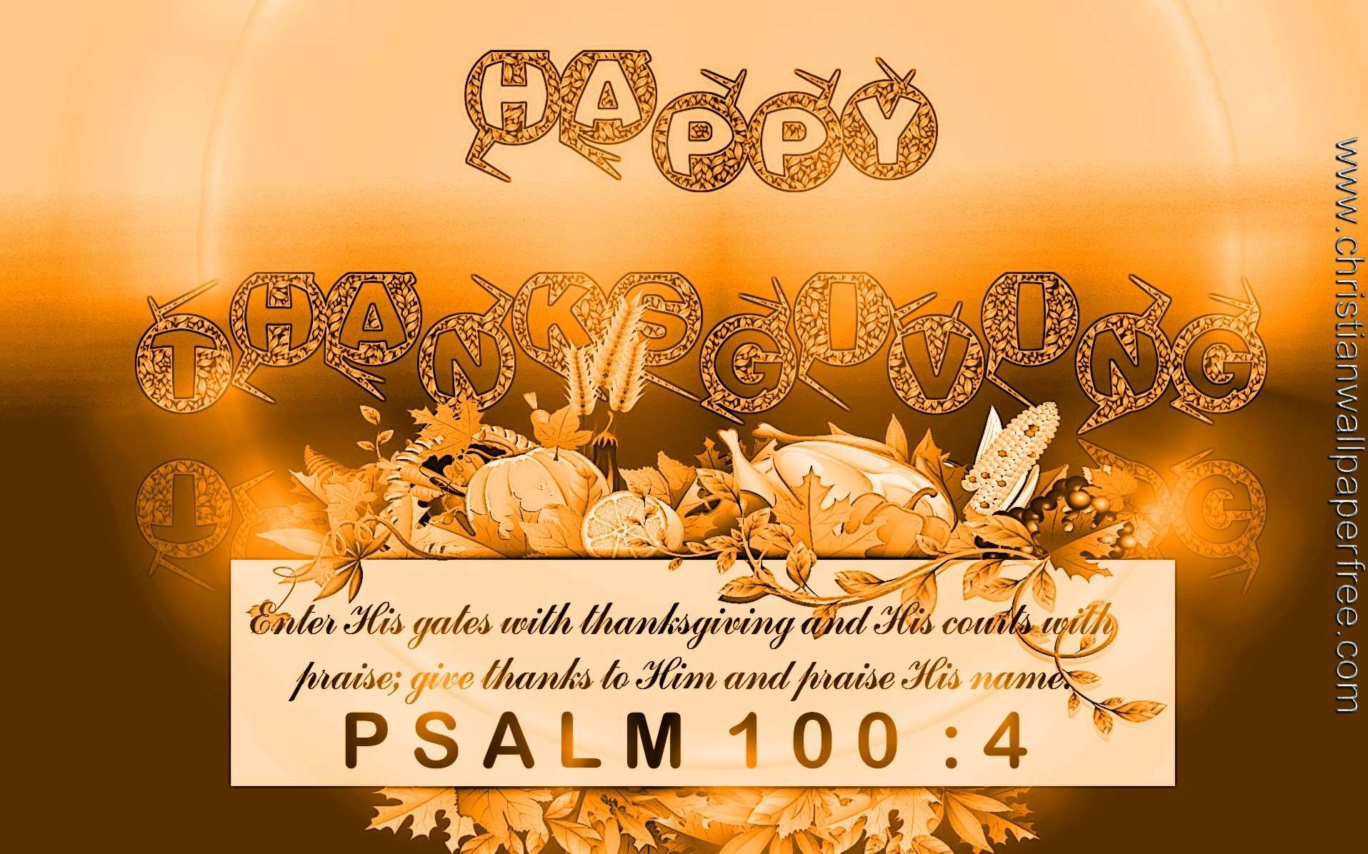 Happy Thanksgiving-Psalm 100 Verse 4 Copper